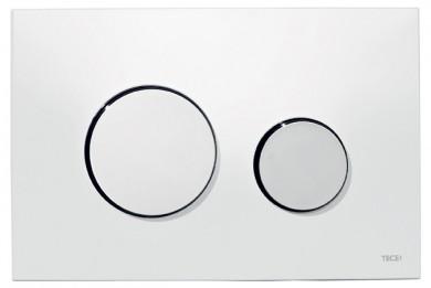 Активатор LOOP пластмасов, основа бяла с бутони лъскав хром