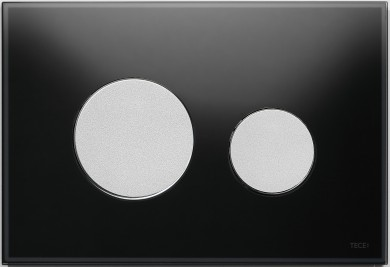 Активатор LOOP GLASS с пластмасови бутони матиран хром и стъклен панел от черно стъкло