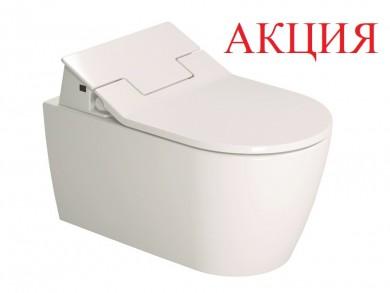 Окачена тоалетна чиния ME без ръбове и капак с БИДЕ SensoWash® Slim
