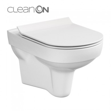Окачена тоалетна CITY с капак плавно затваряне и бутон Easy-Off