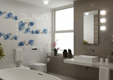 Плочки за баня Colourline White/Taupe 22x66.2