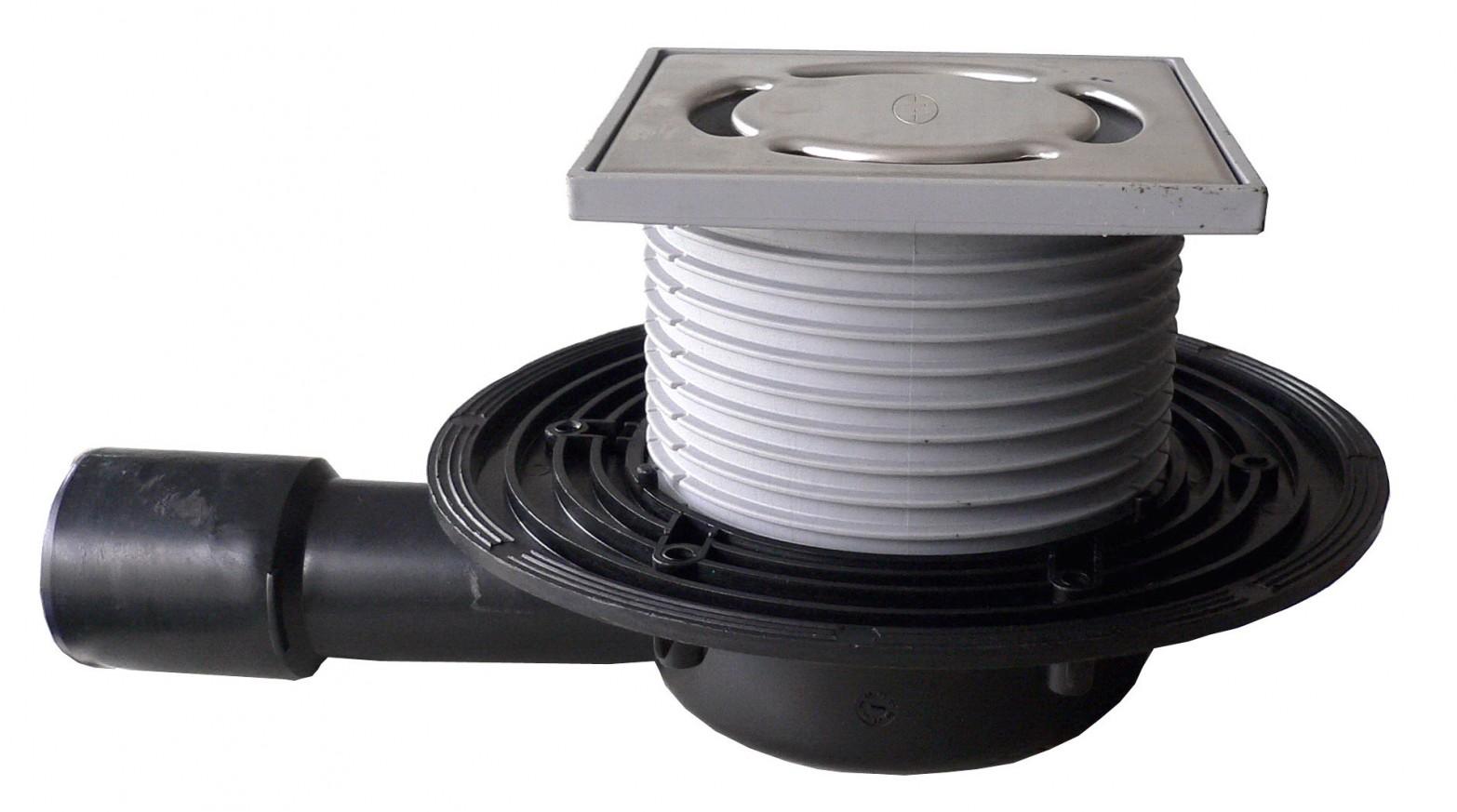 Сифон за тераси и балкони HL90.2 - с клапа против миризми